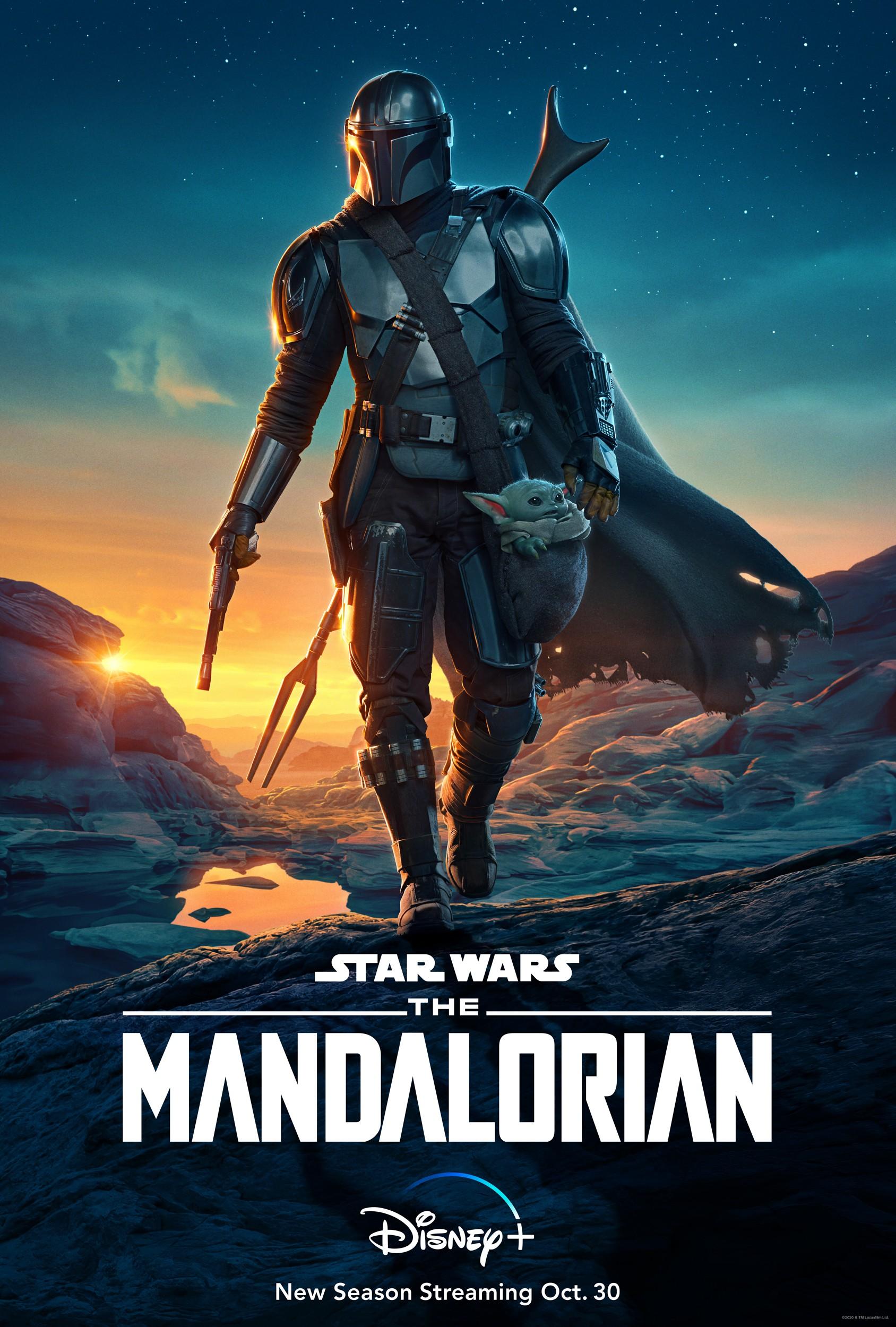 L'affiche de la deuxième saison de Mandalorian