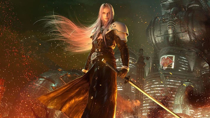 Sephiroth dans le feuSquare Enix