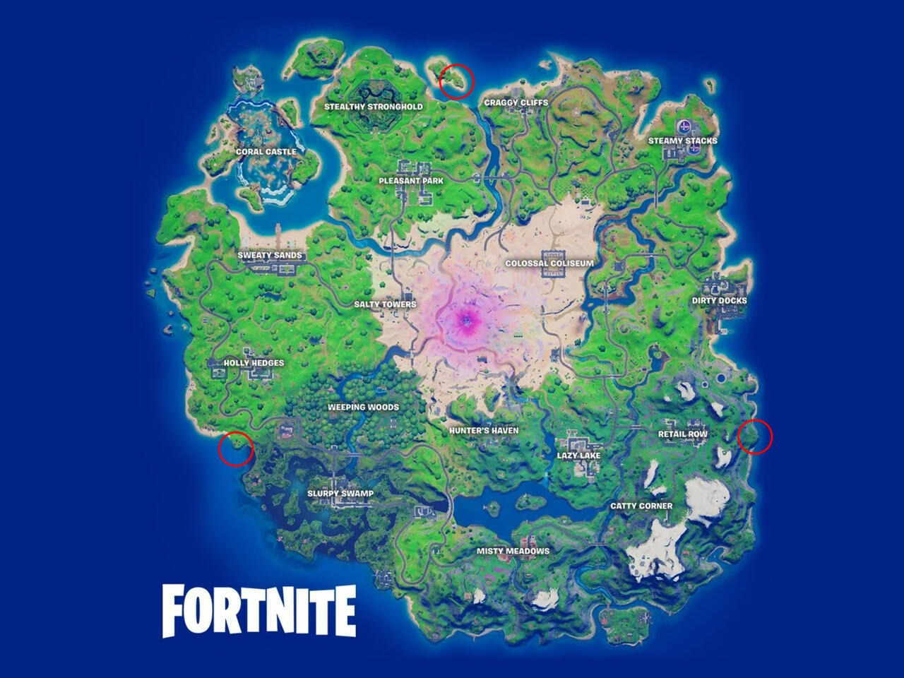 Où trouver les bunkers cachés sur Fortnite.