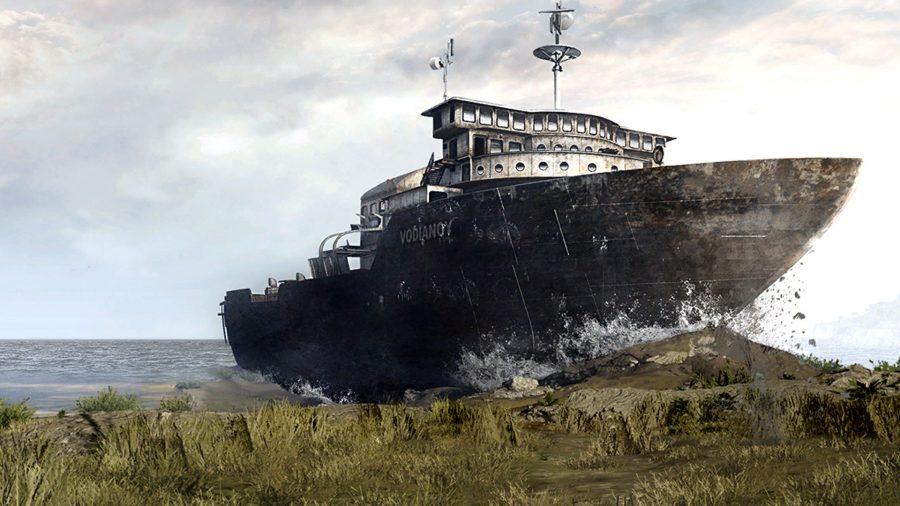 Le bateau Vodiano s'écrase sur Call of Duty: Warzone's Verdansk