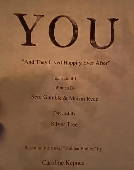 You saison 3 script épisode 1