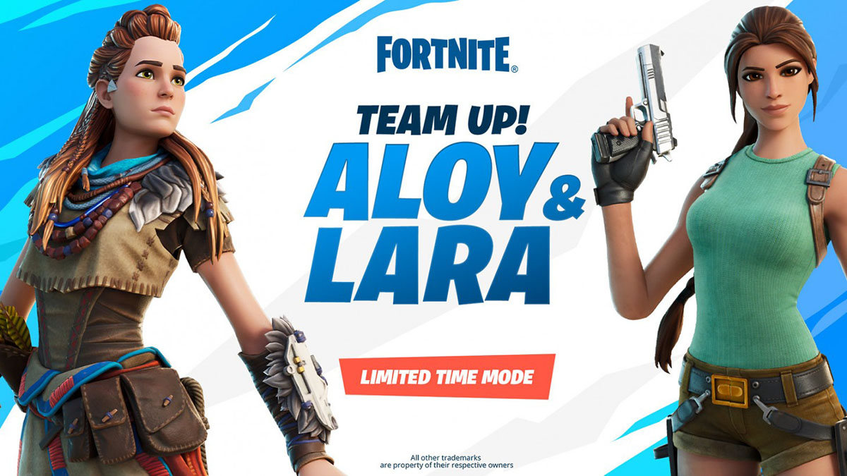 Fortnite's Aloy et Lara Croft