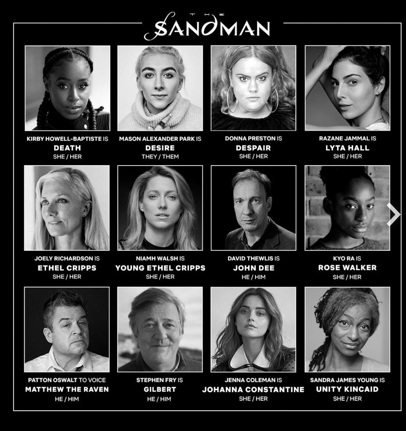 Nouveaux membres du casting annoncés pour la série originale The Sandman de Netflix