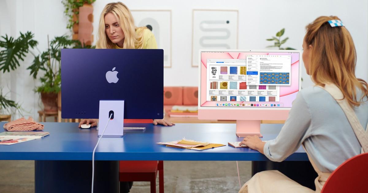 Les nouveaux iMac colorés ont été à l'origine du dernier rafraîchissement matériel d'Apple.