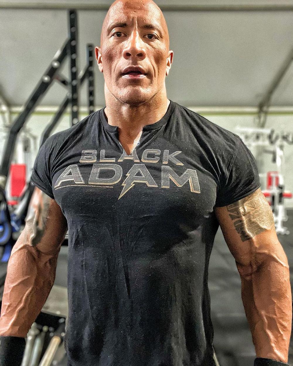 The Rock s'entraîne pour son rôle dans Black Adam