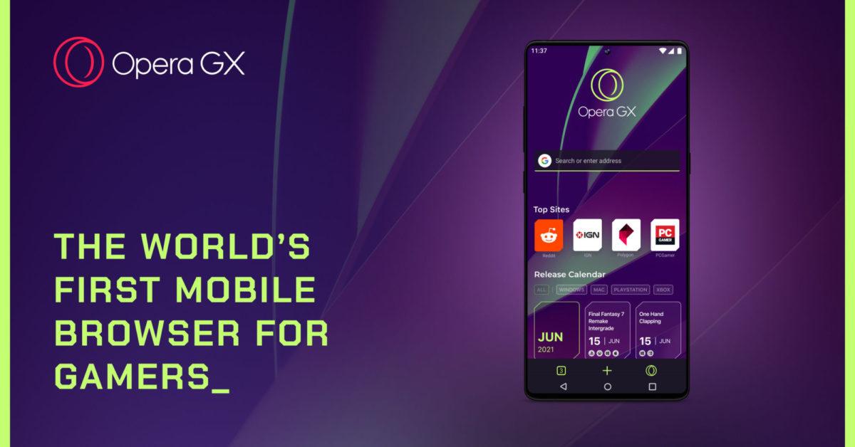 Un aperçu d'Opera GX pour mobile, avec l'aimable autorisation d'Opera.