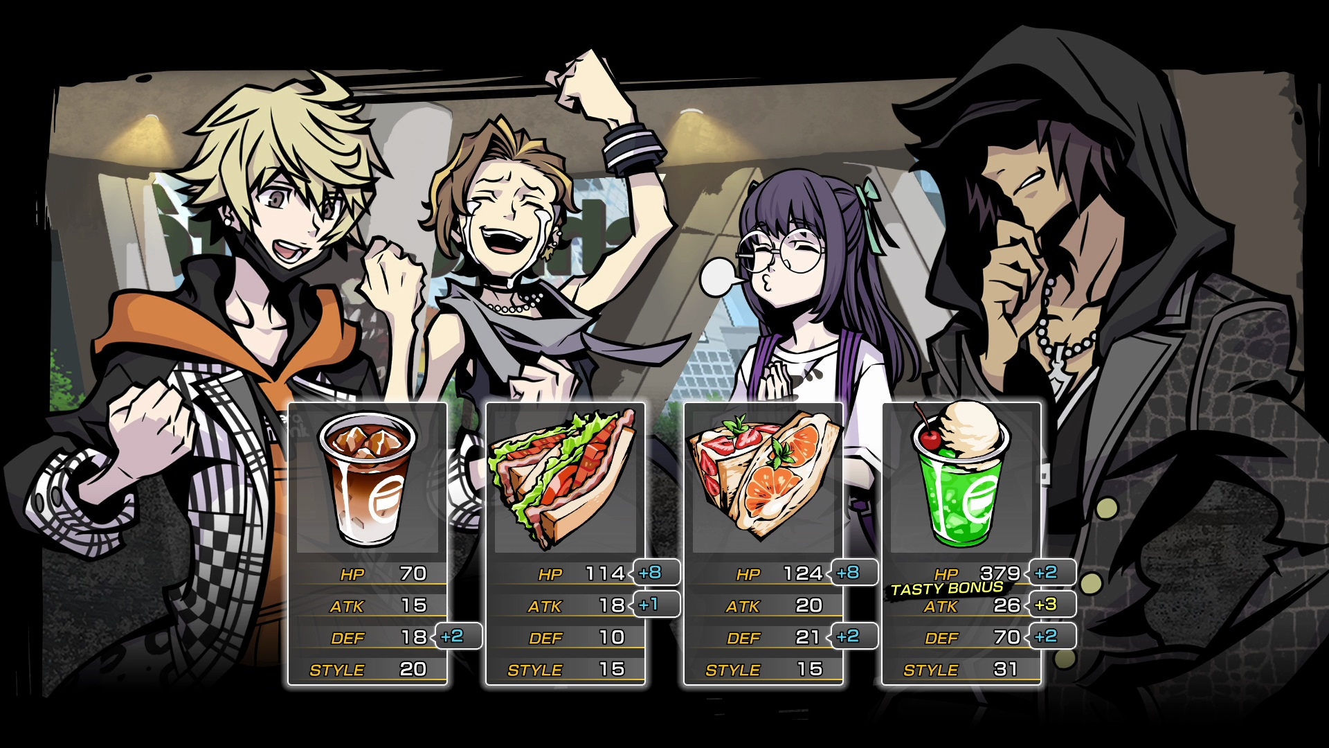 Statistiques des personnages - NEO: The World Ends With You