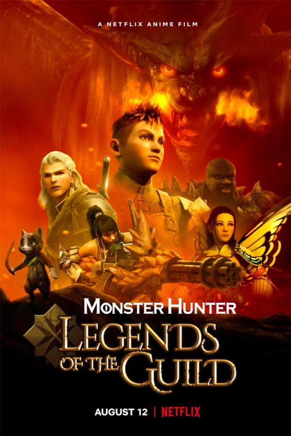 Les légendes de la guilde des chasseurs de monstres du film d'anime arrivent sur netflix en août 2021 affiche