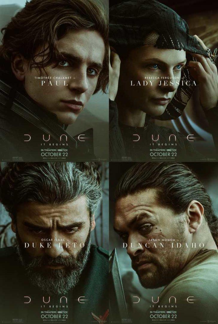 Les affiches des personnages de Dune