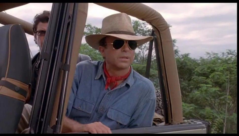 La star de l'invasion Sam Neill dans le rôle d'Alan Grant dans Jurassic Park