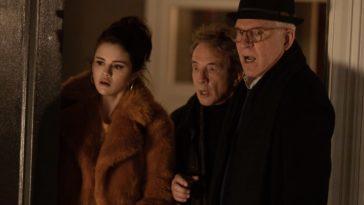 Le trio Selena Gomez, Steve Martin et Martin Short dans le rôle de Mabel, Charles et Oliver dans 'Only Murders In the Building'.
