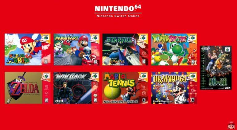 jeux Nintendo 64 sur la Switch