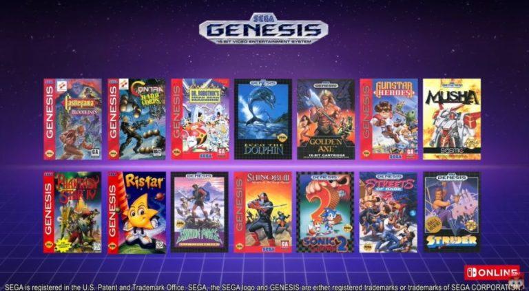 jeux de Mega Drive sur la Switch